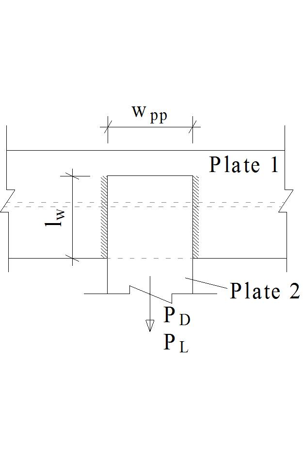Longitudinal Shear Fillet Weld