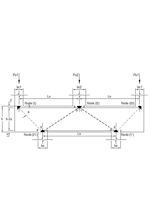 Continuous Deep Beam by the Strut-and-Tie Model